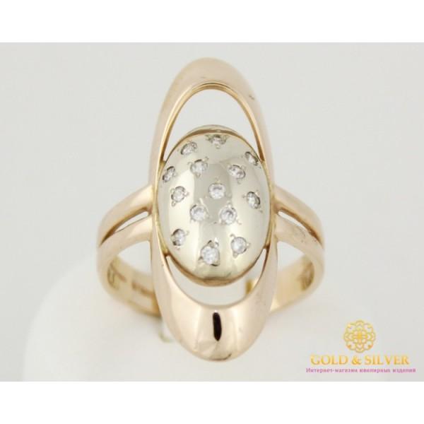 Золотое Кольцо 585 проба. Кольцо женское Планета красное и белое золото. 5122920 , Gold & Silver Gold & Silver, Украина