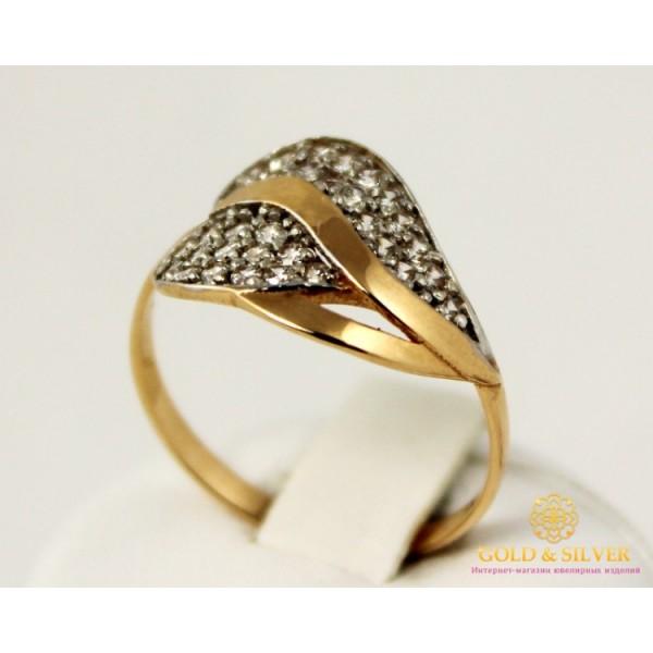 Золотое кольцо 585 проба.  Женское Кольцо с красного золота Листок, 2,53 грамма. 320712 , Gold & Silver Gold & Silver, Украина