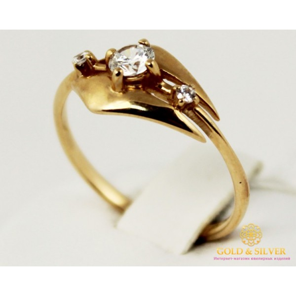 Золотое кольцо 585 проба. Женское Кольцо с красного золота. 1,83 грамма. kv913i , Gold & Silver Gold & Silver, Украина
