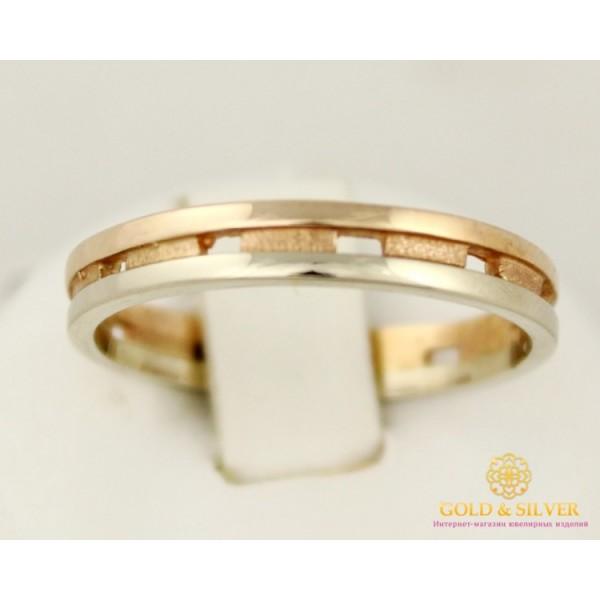 Золотое кольцо 585 проба. Обручальное Кольцо с красного и белого золота. 3,04 грамма. 8027190 , Gold & Silver Gold & Silver, Украина