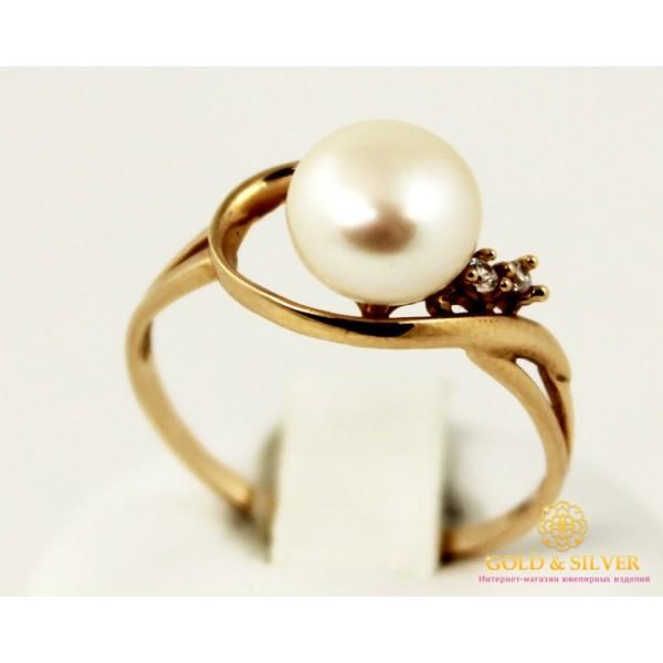 Золотое кольцо 585 проба. Женское Кольцо с красного золота с вставкой Жемчуг. 11294 , Gold &amp Silver Gold & Silver, Украина
