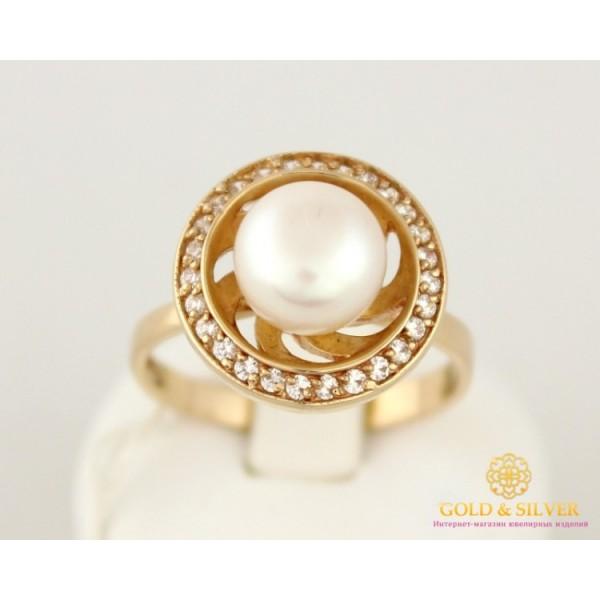 Золотое кольцо 585 проба. Женское Кольцо с красного золота, с вставкой Жемчуг. 6,62 грамма. kv1012i , Gold & Silver Gold & Silver, Украина