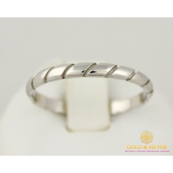Золотое кольцо 585 проба. Кольцо обручальное с белого золота. 872718 , Gold & Silver Gold & Silver, Украина