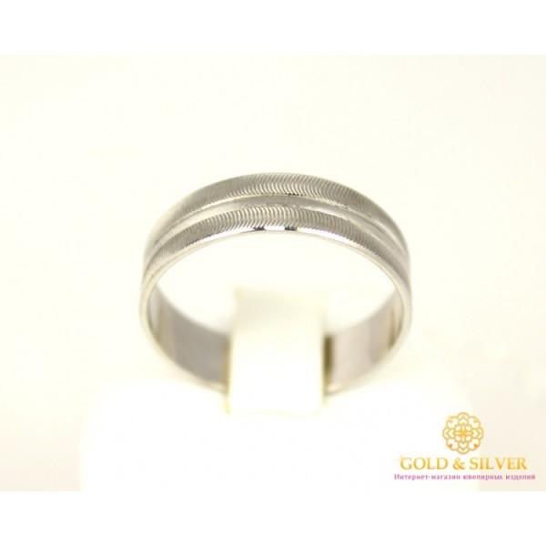 Золотое кольцо 585 проба. Обручальное Кольцо с белого золота, широкое. ok115be , Gold & Silver Gold & Silver, Украина