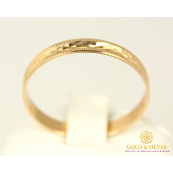 Золотое кольцо 585 проба. Обручальное Кольцо с красного золота. ok019 , Gold & Silver Gold & Silver, Украина