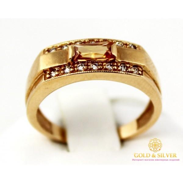 Золотое кольцо 585 проба. Женское Кольцо с красного золота с вставкой Фианит, 10158 , Gold &amp Silver Gold & Silver, Украина