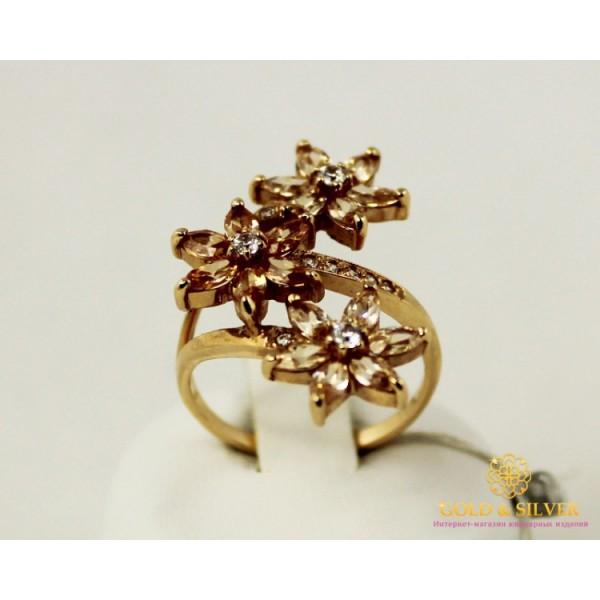 Золотое Кольцо 585 проба. Женское кольцо с красного золота Шампань 11181 , Gold & Silver Gold & Silver, Украина