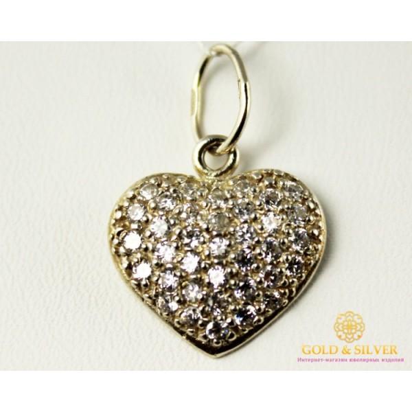 Серебряный Кулон Сердце 3045 , Gold & Silver Gold & Silver, Украина