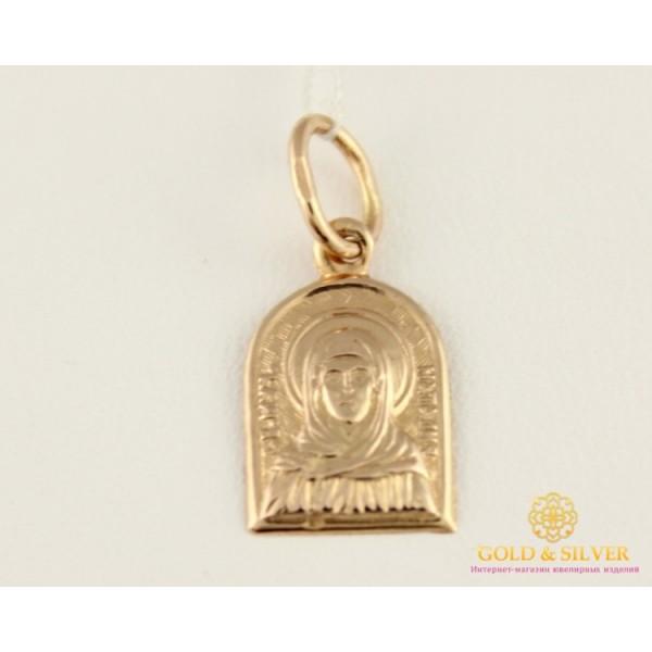 Золотая Нательная Иконка 585 проба. Подвес с красного золота, Святая Мученица Наталья 100550 , Gold &amp Silver Gold & Silver, Украина