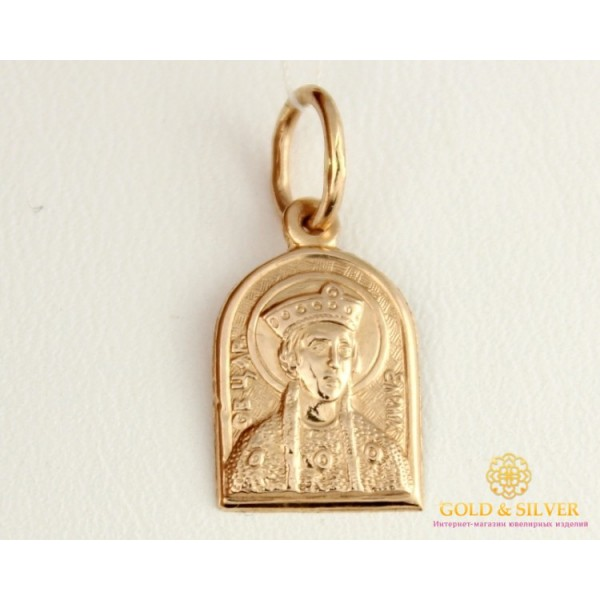 Золотая Нательная Иконка 585 проба. Подвес с красного золота Святая Царица Елена 100533 , Gold &amp Silver Gold & Silver, Украина