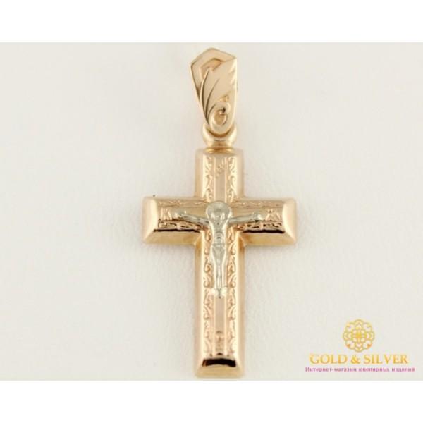 Золотой Крест 585 проба. Крест с красного и белого золота Освященный 222022 , Gold & Silver Gold & Silver, Украина