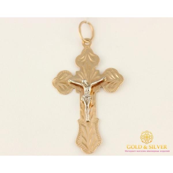 Золотой Крестик Красное Белое Золото 00029 , Gold & Silver Gold & Silver, Украина