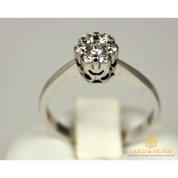 Золотое Кольцо 585 проба. Женское кольцо Мари с белого золота, с вставкой Бриллиант. 11520 , Gold &amp Silver Gold & Silver, Украина