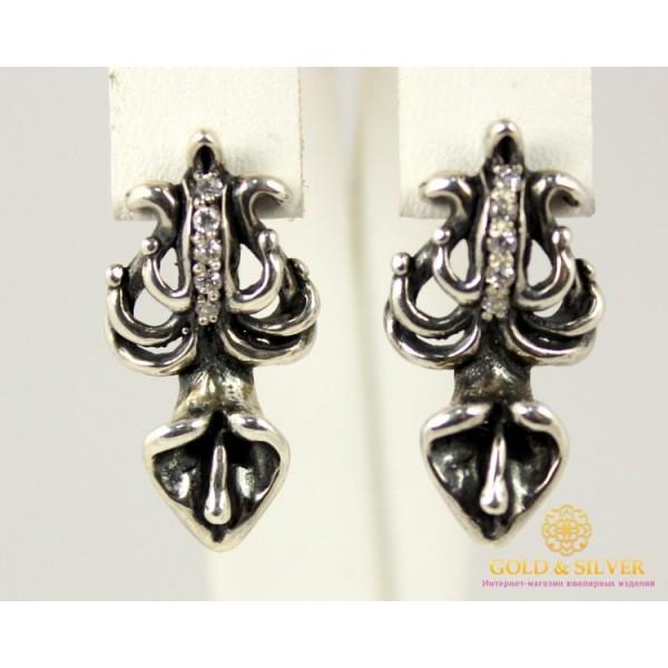 Серебряные Серьги 925 проба. Женские серебряные серьги Ливадия 2429 , Gold & Silver Gold & Silver, Украина