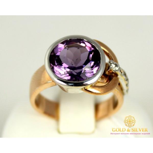 Золотое кольцо 585 проба. Женское Кольцо с красного золота с вставкой Аметист. 6,91 грамма. 11333 , Gold & Silver Gold & Silver, Украина