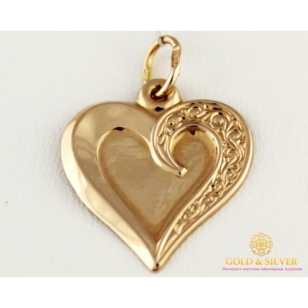 Золотой Кулон 585 проба. Подвес с красного золота, Сердце 100462 , Gold & Silver Gold & Silver, Украина