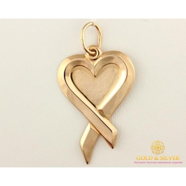 Золотой Кулон 585 проба. Подвес с красного золота, Сердце 100461 , Gold & Silver Gold & Silver, Украина