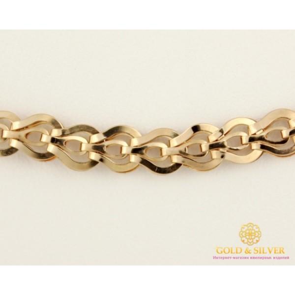 Золотая Цепь 585 проба. Цепочка с красного золота, плетение Фараон, 55 сантиметров, 9,94 грамма. 800072 , Gold & Silver Gold & Silver, Украина