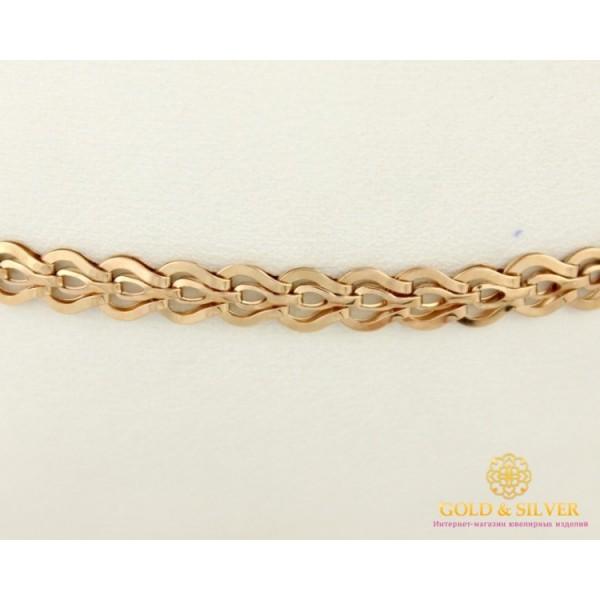 Золотой Браслет 585 проба. Женский браслет с красного золота, плетение Фараон 3,84 грамма 19 сантиметров 810072 , Gold & Silver Gold & Silver, Украина