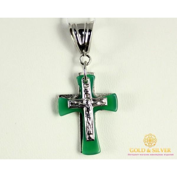 Серебряный Крест 925 проба. Женский крест, с вставкой Агата 1720039c , Gold &amp Silver Gold & Silver, Украина