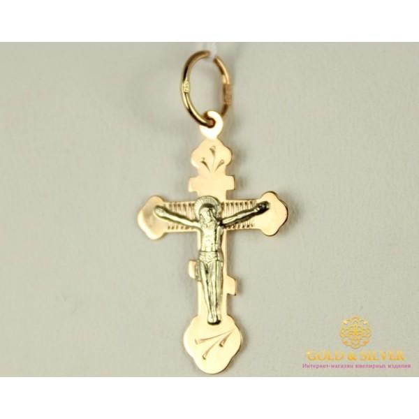 Золотой Крест 585 проба. Крестик детский с красного и белого золота. 230139 , Gold & Silver Gold & Silver, Украина