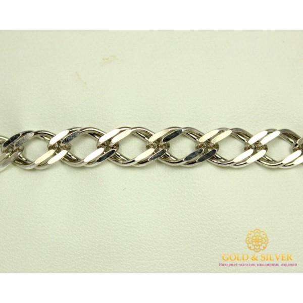 Серебряный Браслет 925 проба. Браслет серебряный, плетение Двойной Ромб. 4277p , Gold & Silver Gold & Silver, Украина
