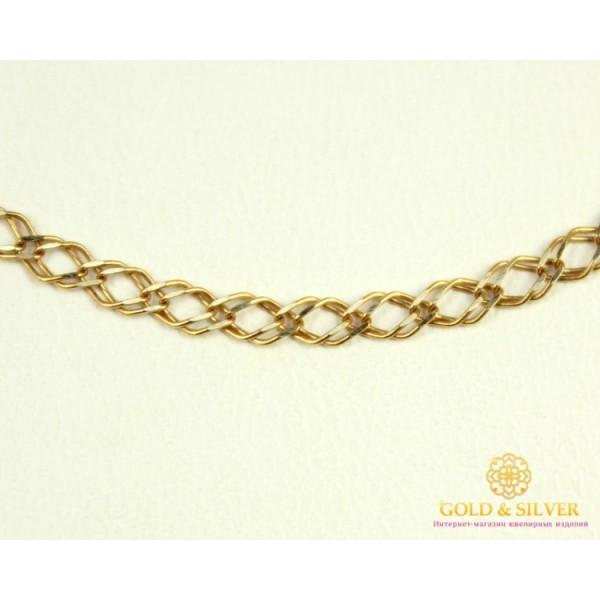 Золотая Цепь 585 проба. Цепочка с красного золота, плетение Ромб Двойной редкий с алмазной гранью, 40 сантиметров. 513323041(40) , Gold & Silver Gold & Silver, Украина