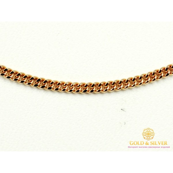 Золотая цепь 585 проба.Цепочка Панцирная Одинарная с красного золота, 55 сантиметров. 50101104041(55) , Gold & Silver Gold & Silver, Украина
