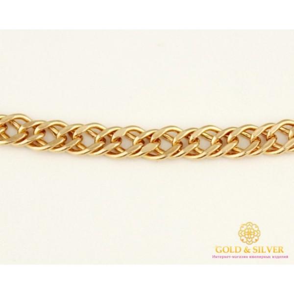 Золотая Цепь 585 проба. Цепочка с красного золота, плетение Ромб, 45 сантиметров. 50106206041n(45) , Gold & Silver Gold & Silver, Украина