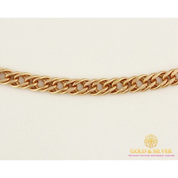 Золотая Цепь 585 проба. Цепочка с красного золота, плетение Ромб Тройной, 55 сантиметров 50106205041n(55) , Gold & Silver Gold & Silver, Украина
