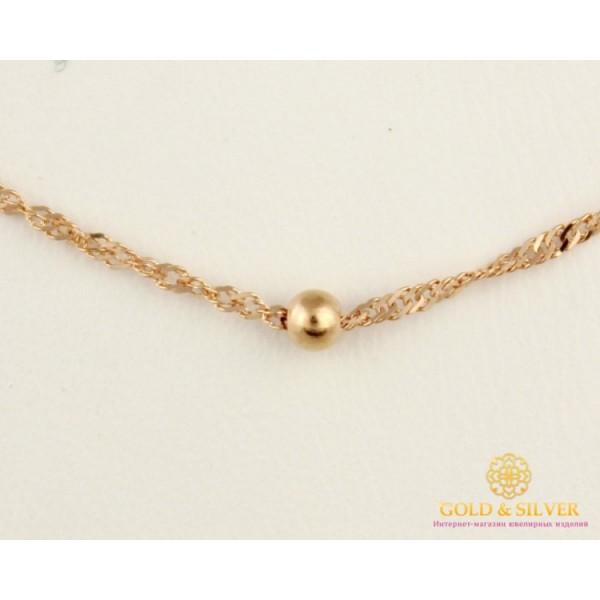 Золотая цепь 585 проба. Женская золотая Цепочка Диско с алмазной гранью 592912051(40) , Gold &amp Silver Gold & Silver, Украина