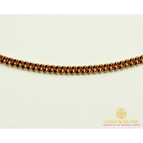 Золотая Цепь 585 проба. Цепочка с красного золота. Панцирная 50101104041(50) , Gold & Silver Gold & Silver, Украина