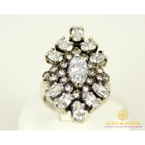 Серебряное кольцо 925 проба. Женское Кольцо с фианитом c10030 , Gold &amp Silver Gold & Silver, Украина
