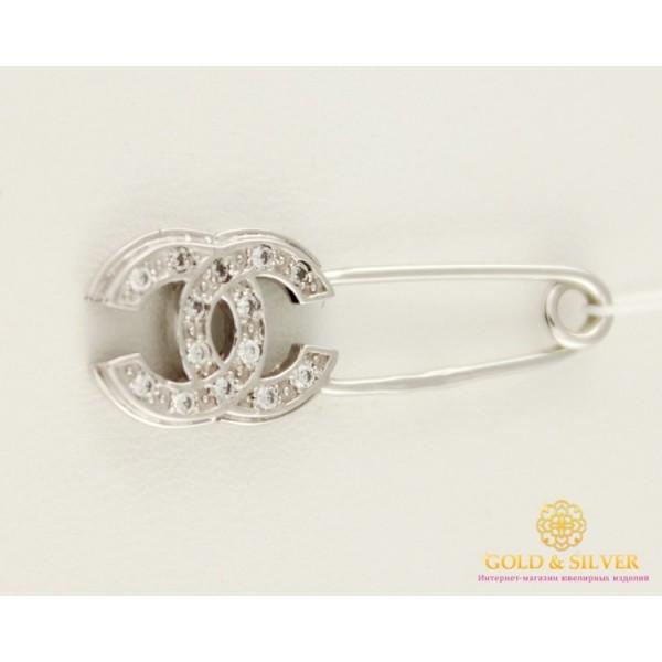 Золотая Булавка 585 проба. Булавка белое золото Шанель bsh072i , Gold & Silver Gold & Silver, Украина