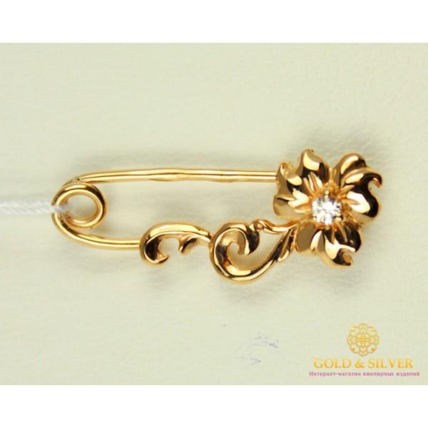 Золотая Булавка 585 проба. Булавка с красного золота, Цветочек bw046i , Gold & Silver Gold & Silver, Украина