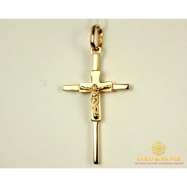 Золотой Крест 585 проба. Крест с красного и  белого золота. kp051i , Gold & Silver Gold & Silver, Украина