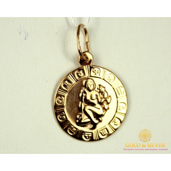 Золотой Кулон 585 проба. Подвес с красного золота, Знак Зодиака Дева pb205i , Gold & Silver Gold & Silver, Украина