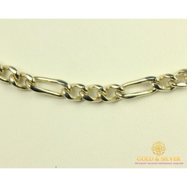 Серебряная Цепь Фигаро 6005 , Gold & Silver Gold & Silver, Украина
