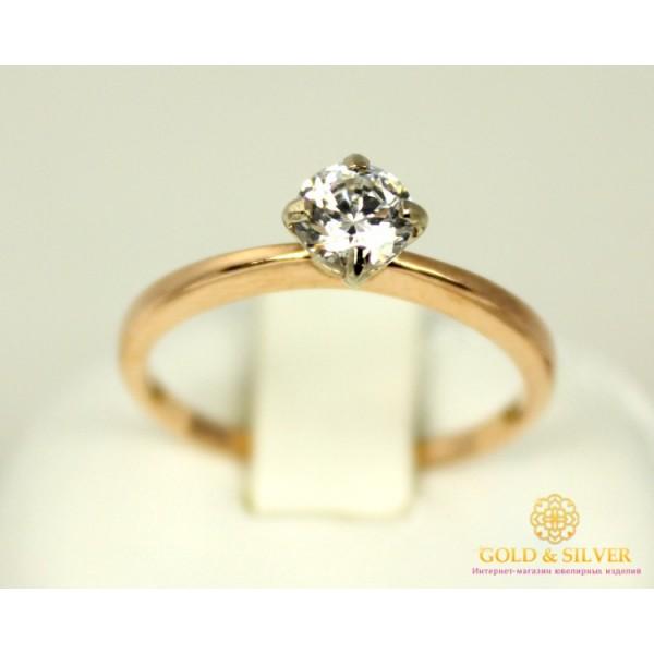 Золотое кольцо 585 проба. Женское Кольцо с красного золота с вставкой Swarovski Zirconia. 2,02 грамма. kv339(s)i , Gold & Silver Gold & Silver, Украина