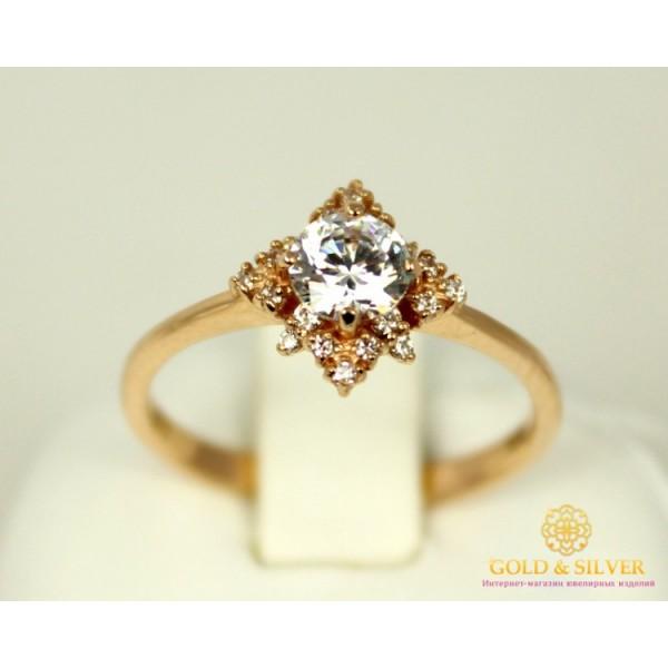Золотое кольцо 585 проба. Женское Кольцо с красного золота с вставкой Swarovski Zirconia. 2,35 грамма. kv895(s)i , Gold &amp Silver Gold & Silver, Украина