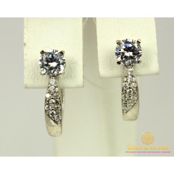 Серебряные Серьги 925 проба. Женские серебряные серьги Анечка 21219p , Gold &amp Silver Gold & Silver, Украина