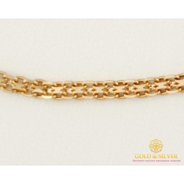 Золотая Цепь 585 проба. Цепочка Бисмарк, с красного золота, 55 сантиметров 3,37 грамма 50112203041(55) , Gold & Silver Gold & Silver, Украина