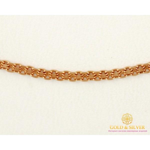 Золотая Цепь 585 проба. Цепочка Бисмарк, с красного золота, 55 сантиметров  511223041(55) , Gold & Silver Gold & Silver, Украина