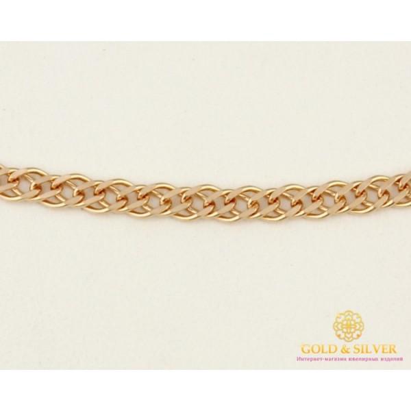 Золотая Цепь 585 проба. Цепочка с красного золота, Ромб Двойная, 55 сантиметров 50106204041(55) , Gold & Silver Gold & Silver, Украина