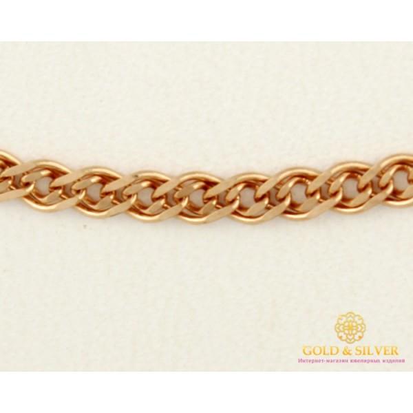 Золотая Цепь 585 проба. Женская цепочка Нона с красного золота 55 сантиметров 50120204041(55) , Gold & Silver Gold & Silver, Украина