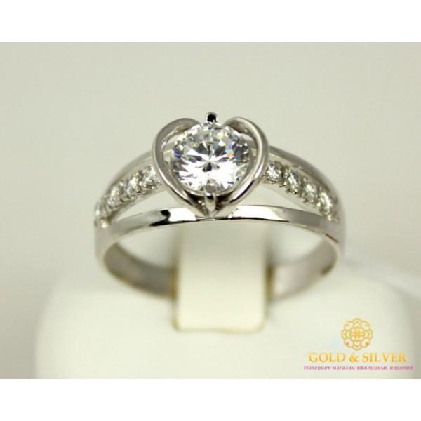 Серебряное кольцо 925 проба. Женское серебярное Кольцо Торонто 13149p , Gold & Silver Gold & Silver, Украина