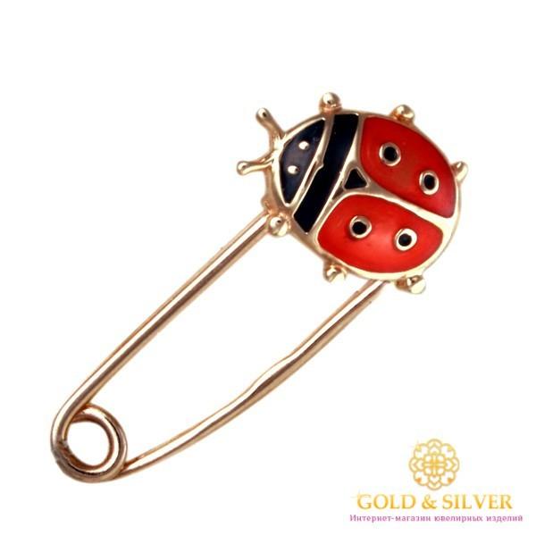 Золотая Булавка 585 проба. Булавка Божья Коровка с красного золота, Эмаль bw074i , Gold &amp Silver Gold & Silver, Украина