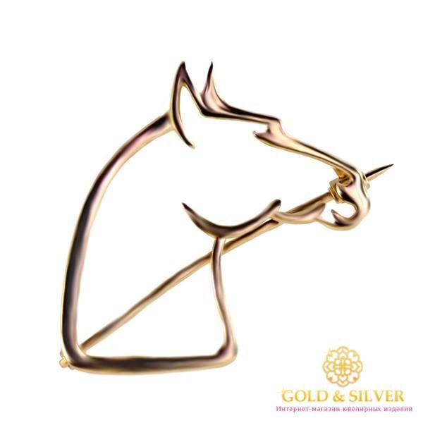 Золотая Брошь 585 проба. Брошь с красного золота, Лошадь bw224i , Gold & Silver Gold & Silver, Украина