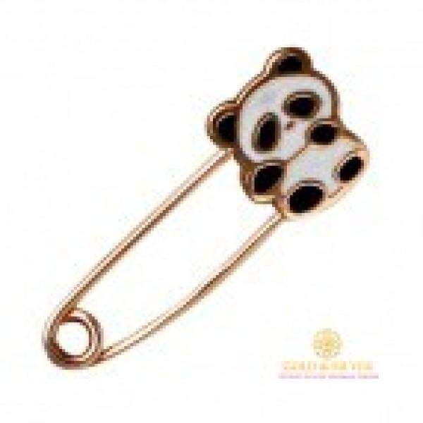 Золотая Булавка 585 проба. Булавка с красного золота, Детская Панда Эмаль bw075i , Gold & Silver Gold & Silver, Украина