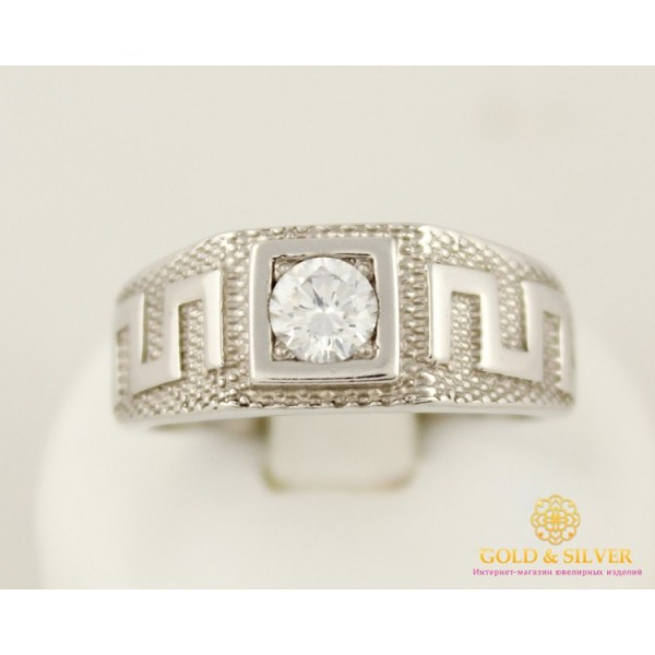 Серебряное кольцо 925 проба. Мужское Кольцо Вальф 13899p , Gold &amp Silver Gold & Silver, Украина